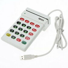 USB Magnetic Stripe Card Reader Encoder Credit Card w/ Numeric Keypad