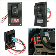 12-24V LED Dual Battery Test Panel Rocker Switch Car Truck Marine Boat Voltmeter