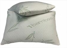 2 Pack Bamboo Memory Foam Pillows Hypoallergenic New Improved Version