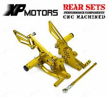 Adjustable Rear Sets Rearsets For Kawasaki Ninja ZX-10R 2006 2007 08 09 10 Gold