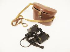 Vintage 1940's WW2 Bino Prism No 2 Mk 2 Military British Army Binoculars & Case