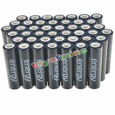 44pcs 18650 3.7V 10000mAh Energy Li-ion Rechargeable Battery Black Cell USA