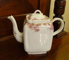 Antique 1882 CFH GDM Charles Field Haviland Limoges Pink Floral Teapot Marked