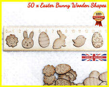 50 Easter Bunny Wooden shapes Craft Scrapbooking MDF Wood Gift Cut Card making