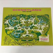Vintage Disneyland Dial Guide Map 1972 Souvenir Unused Large Postcard