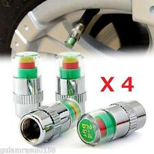 4x Tyre Pressure Valve Cap Monitoring System 2.4 Bar 36psi Auto Car TYRE