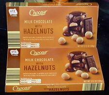Choceur Milk Chocolate & Roasted Hazelnut Bars.(2 Pack) Made In Austria