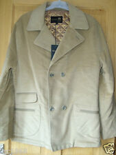 Wolsey CLEAVE Jacket Over Coat Beige / Tobacco Men's Heritage Classic Large BNWT