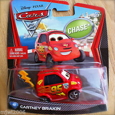 Disney PIXAR Cars 2 CARTNEY BRAKIN CHASE diecast #40 RARE Lightning McQueen fan