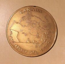 Canada BC Centenary of Confederation 1871 1971 Medal w. Map of Canada