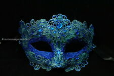 Lace Masquerade Venetian Brocade Crystals Halloween Christmas Costume Party Mask