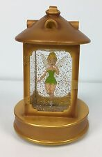 Tinkerbell Disney Lantern Snowglobe Snow Globe Light Up Fairy in Hook's Lantern