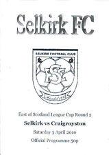 3 de abril de 2010 Selkirk V craigroyston, Taza de liga este de Escocia
