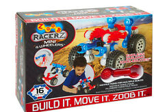 ZOOB RACERZ - MINI 4 WHEELERS PACK 16 PIECES BRAND NEW BUILD IT MOVE IT ZOOB IT