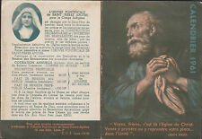 IMAGE PIEUSE HOLY CARD SANTINI- CALENDRIER 1961 - OEUVRE PONTIFICALE ST PIERRE