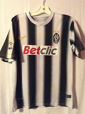 Juventus Black White Stripe Nike Soccer Jersey Kit Betclic Medium Italy Football