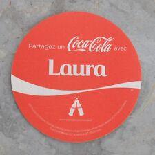 Sous-bock de Coca Cola, série des prénoms, Laura, bon état