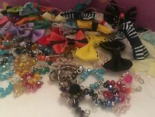 """Accessories"" For Littlest Pet Shop Set #1: 3 ""Random"" Crystal Collar & 3 Bows!!"