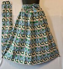"""African Wax Print Ankara Maxi Women Skirt 2 Pocket Belt Free Size Waist 50"""" P32"""