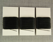 3x 20m HEAVY DUTY STRONG 8s SEWING THREAD BLACK LEATHER REPAIR