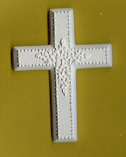 Cross w/flowers plaster of Paris painting project. Set of 6!