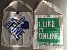 U GET BOTH! 2 x NEW Sportsgirl Casual Tote Material shopping carry Bag FREE POST