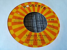 Rome & Paris 45 Why Oh Why/Because of You Roulette 4681 60s Garage Rock