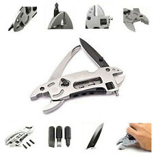 EDC Multi Tools Set Adjustable Wrench Jaw+Screwdriver+Pliers+Knife Survival Gear