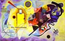 Wassily Kandinsky Abstract Abstract Oil Painting repro  Yellow-Red-Blue