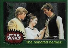 1999 Topps Star Wars Chrome Archives #30 The Honored Heroes!   Han   Luke   Leia