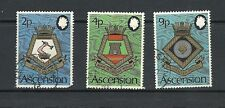 1973 Queen Elizabeth II SG166, SG167, SG168 Naval Crests Used ASCENSION