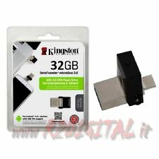 PENDRIVE DTMICRODUO KINGSTON 64 GB USB 3.0 PENNA TABLET SMARTPHONE ADATTATORE
