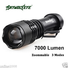 Real Super Bright 7000LM CREE Q5 AA/14500 3 Modes Zoom LED Flashlight Torch Lamp