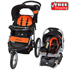 Baby Trend Expedition Jogger Stroller Travel System Millennium Orange Car Seat
