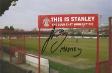A 6 x 4 inch photo personally signed by Jason Mooney of Accrington Stanley. (1).