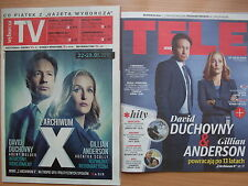 GILLIAN ANDERSON / DAVID DUCHOVNY / THE X FILES front cover 2 Polish Magazines