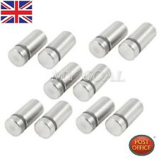 10 x Stainless Stand off Bolts Mount Standoffs Sign Advertisement Fixings Gifts