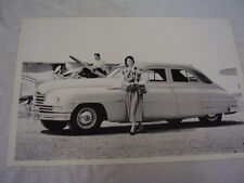 1949 PACKARD WITH PLANE 12 X 18 LARGE PICTURE / PHOTO