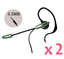 2pcs of 3.5mm Ear Hook Boom Mic. Handsfree Headset for Blackberry Phones
