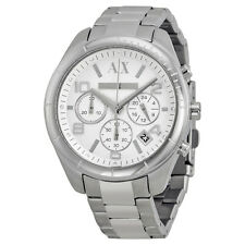 Armani Exchange Chronograph Silver Dial Stainless Steel Ladies Watch AX5500