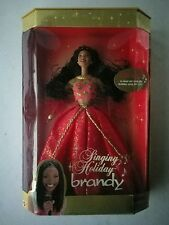 BARBIE SINGING HOLIDAY BRANDY AFRICAN AMERICAN BLACK DOLL W/MICROPHONE 27779