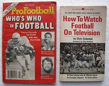 "(2) Football Paperbacks: ""How To Watch Football On TV"" & ""Who's Who In Football"""