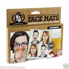 Gentlemans Club Face Coaster  20 Double Sided Funny Face Coasters
