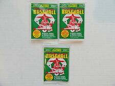 1991 Score Major League Baseball 48 Vintage Baseball Cards 3 Unopened Packs