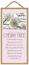 ADVICE FROM A CHERRY TREE wood INSPIRATIONAL SIGN wall NOVELTY PLAQUE flower NEW