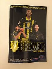 BURTON ALBION V  WIGAN ATHLETIC EFL CHAMPIONSHIP PROGRAMME  14TH JANUARY 2017