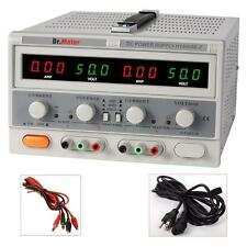 Dr.meter Switching Dual-Output 50V 5A DCPower Supply LAB GRADE Regulated Precise