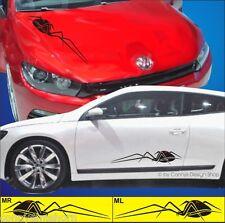 Autoaufkleber Spinnen Spider Set 60cm M2 - ML+MR Cartattoo Seitenaufkleber Smart