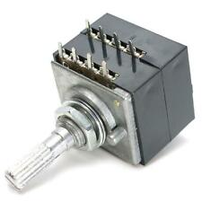 100K Log Potentiometer Audio Amp Volume Control Pot Stereo W Loudness For ALPS
