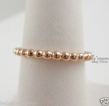 ETERNAL CLOUDS Genuine PANDORA Rose GOLD Plated STACKABLE Band RING 7/54 NEW